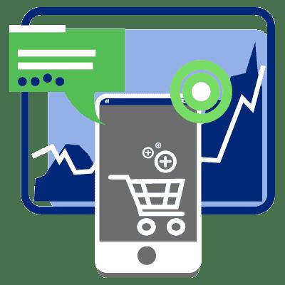WAgence référencement mobile icône Marketing mobile de contenu